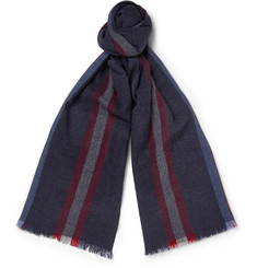 Gucci Striped Wool-Cashmere Scarf
