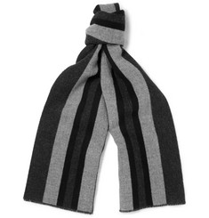 Gucci Striped Wool and Cashmere-Blend Scarf