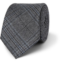 Gucci Prince of Wales Check Woven-Wool Tie