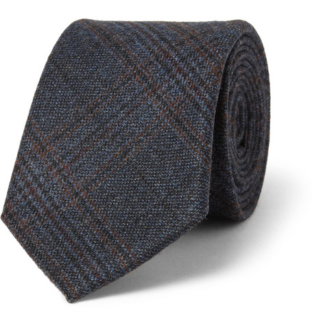 Gucci Plaid Wool Tie