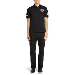 Givenchy African Target Patch Polo Shirt