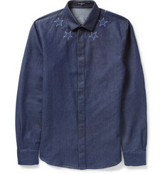 Givenchy Embroidered Star-Trim Denim Shirt