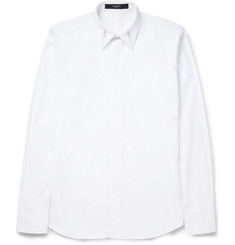 Givenchy Cotton Shirt With Collar Stay Detail