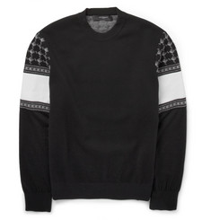Givenchy Keffieh Jacquard Wool-Blend Sweatshirt
