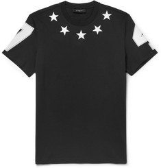 Givenchy Cuban-Fit Embroidered Star-Trim T-Shirt