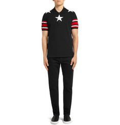 Givenchy Embroidered Star-Trim Polo Shirt