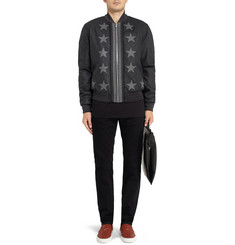 Givenchy Star-Appliqué Wool Bomber Jacket