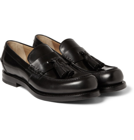 Gucci Tasselled Leather Loafers
