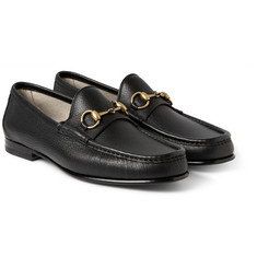 Gucci Horsebit Full-Grain Leather Loafers