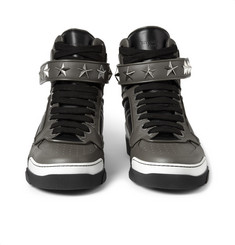 Givenchy Tyson High Top Leather Sneakers with Stars