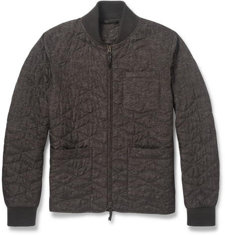 Incotex Montedoro Printed Quilted Bomber Jacket