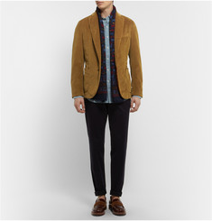Incotex Unstructured Garment-Dyed Corduroy Blazer