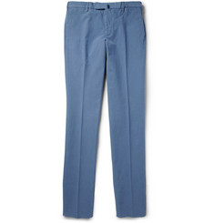 Incotex Slim-Fit Brushed Cotton-Blend Chinos