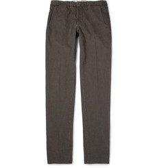 Incotex Slim-Fit Houndstooth Check Cotton-Blend Trousers