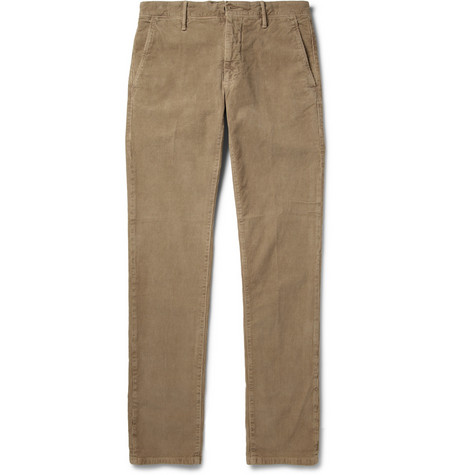 Incotex Slim-Fit Garment-Dyed Corduroy Trousers