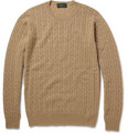 Incotex Zanone Fine-Knit Camelhair Sweater