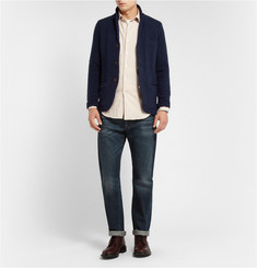 Incotex Zanone Unstructured Cable-Knit Wool Blazer