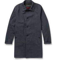 Incotex Montedoro Waterproof Wool-Blend Trench Coat