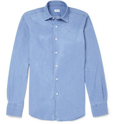 Incotex Glanshirt Slim-Fit Washed Lightweight Denim Shirt