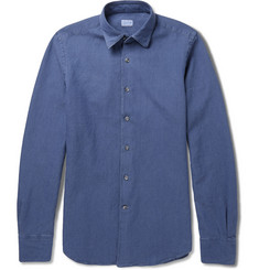 Incotex Glanshirt Slim-Fit Jacquard Cotton Shirt