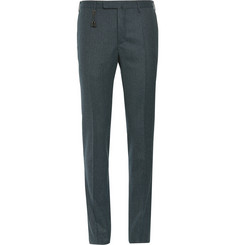 Incotex Slim-Fit Patterned Wool-Blend Trousers