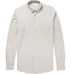 Incotex Glanshirt Slim-Fit Striped Brushed-Cotton Shirt