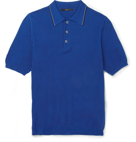 Gucci Knitted Cotton-Piqué Polo Shirt