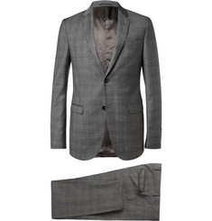 Gucci Dylan Grey Slim-Fit Check Wool Suit