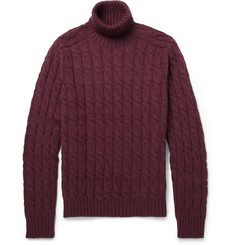 Gucci Cable-Knit Rollneck Sweater