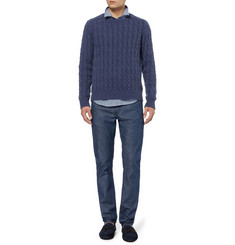 Gucci Cable Knit Crew Neck Sweater