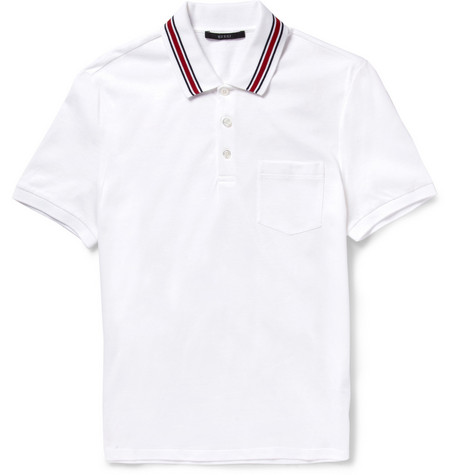 Gucci Cotton-Jersey Polo Shirt