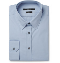 Gucci Blue Slim-Fit Cotton Shirt