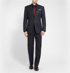 Gucci Navy Slim-Fit Cotton Shirt