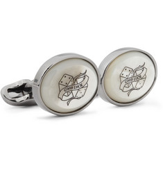 Paul Smith Shoes & Accessories Engraved Mother-of-Pearl Cufflinks