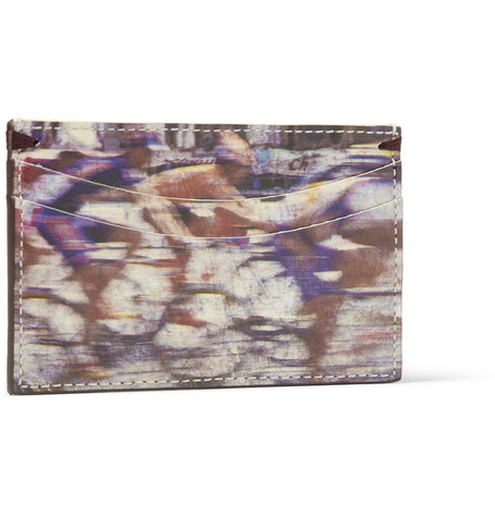 Paul Smith Shoes & Accessories Printed Leather Cardholder