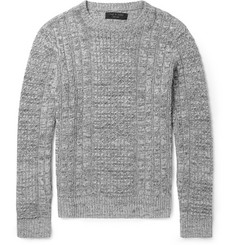 Rag & bone Nolan Linen and Cotton-Blend Cable-Knit Sweater