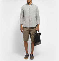 Rag & bone Striped Button-Down Collar Linen and Cotton-Blend Oxford Shirt
