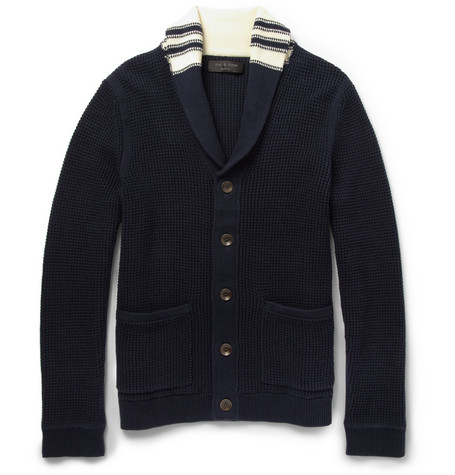 Rag & bone Irving Chunky Shawl-Collar Cotton Cardigan
