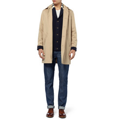 Rag & bone Irving Chunky-Knit Cotton Shawl-Collar Cardigan