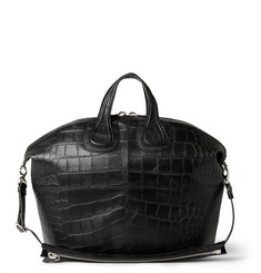 Givenchy Crocodile-Embossed Leather Nightingale Tote Bag
