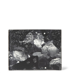 Givenchy Camo Flower-Print Leather Cardholder