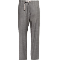 Paul Smith Grey Wool-Blend Suit Trousers