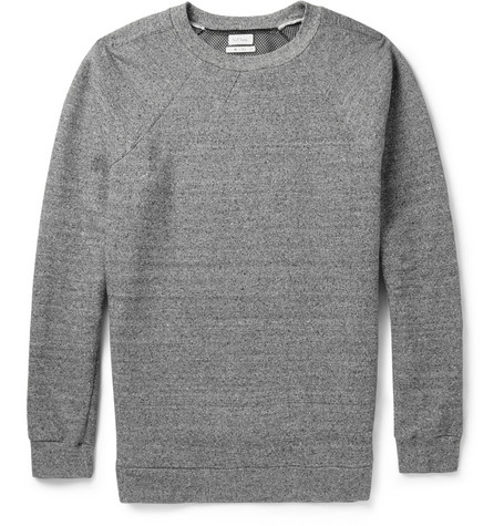 Paul Smith Flecked Cotton and Silk-Blend Jersey Sweatshirt