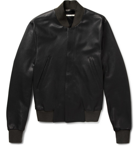Paul Smith Full-Grain Leather Bomber Jacket