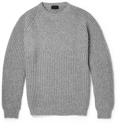 Lanvin Ribbed Wool and Cashmere-Blend Sweater
