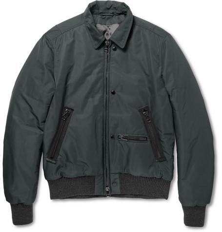 Lanvin Quilted Twill Bomber Jacket