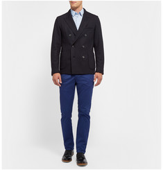 Lanvin Unstructured Double-Breasted Wool-Blend Blazer