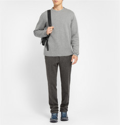 Lanvin Zip-Shoulder Cotton-Blend Jersey Sweatshirt