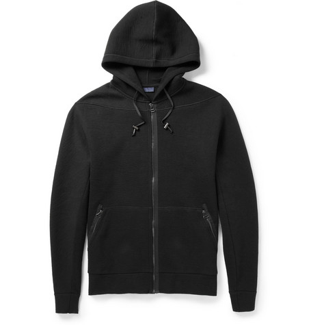 Lanvin Leather Elbow Patch Cotton-Jersey Hoodie