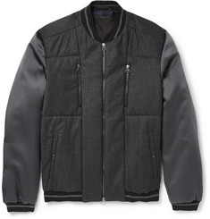 Lanvin Wool and Cashmere-Blend Lightly-Quilted Bomber Jacket
